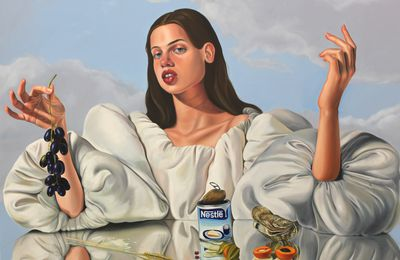 "Expo Peinture Contemporaine: Chloe WISE  ""Of false beaches and butter money"""
