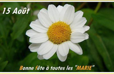 """BONNE FETE DE L'ASSOMPTION- ET BONNE FETE AUX """" MARIE """""""