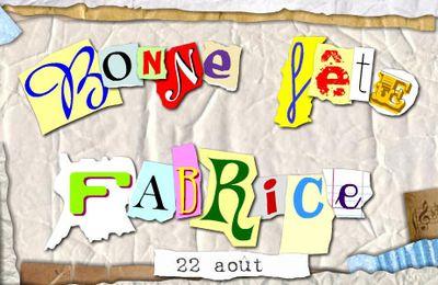 BONNE FETE AUX - FABRICE