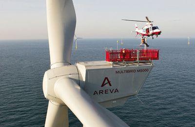 AREVA : cap sur l'éolien offshore ... d'Alstom