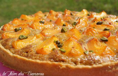 La tarte abricots crème amande pistache d'E. Kayser