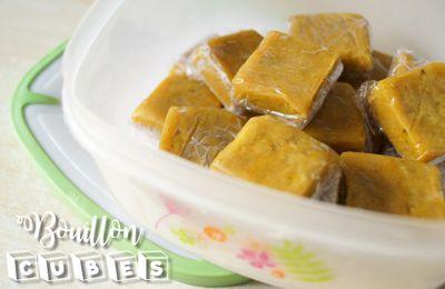 Le bouillon de légumes en cubes