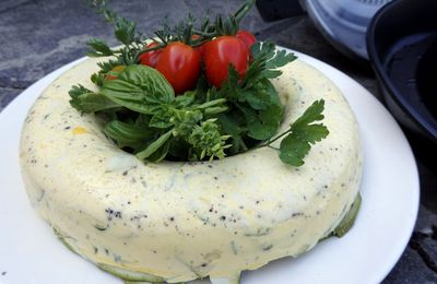 Flan de courgettes croquantes, cuisson vapeur/ Cook'in®