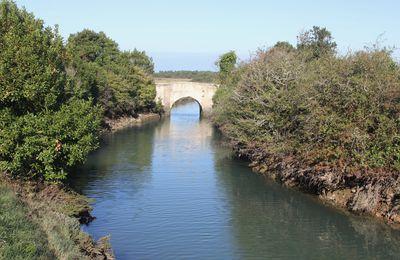 Oléron. Pont Napoléon. Chenal de la Brande.