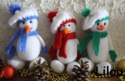 Bonhomme de neige au tricot DIY modele tuto gratuit