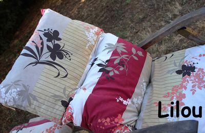 Un coussin de chaise longue DIY modele tuto gratuit