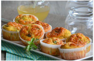 Mini-cakes courgettes olives et tomates séchées