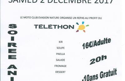 Rando moto-quad Téléthon de Evasion nature 1.2.4 RM à St Félix de Villadeix (24), le 2 décembre 2017
