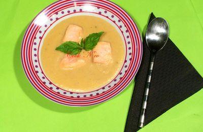 Soupe de pommes de terre au saumon (pour 6 personnes)