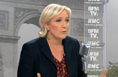 Marine Le Pen est l'invité vendredi matin de BFM TV et RMC