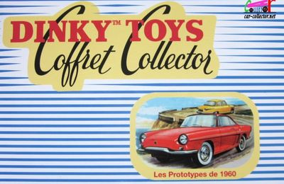 COFFRET COLLECTOR LES PROTOTYPES DE 1960 DINKY TOYS REEDITION ATLAS 1/43