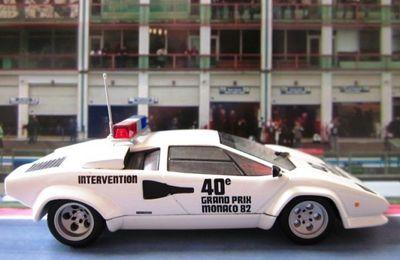 LAMBORGHINI COUNTACH 5000S PACE CAR GRAND PRIX MONACO 1982 IXO 1/43