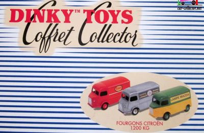 COFFRET COLLECTOR FOURGONS CITROEN 1200 KG DINKY TOYS REEDITION ATLAS 1/43