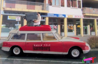 CITROEN DS BREAK ID 19 1958 RADIO TELE LUXEMBOURG DINKY TOYS 1/43
