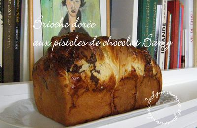 Brioche dorée aux pistoles de chocolat Barry Saint-Domingue