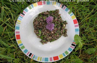 Salade de lentilles béluga et quinoa Markal bio