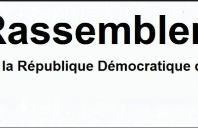 Document. Position du « Rassemblement » sur la nomination de Bruno Tshibala