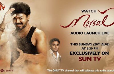 Mersal Audio Launch en live sur Sun TV !