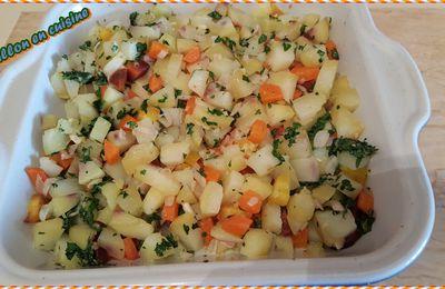 Recette: Brunoise de légumes persillés