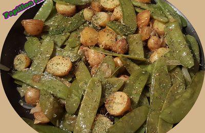 Recette: Poêlée de pois gourmands et petites pommes de terre