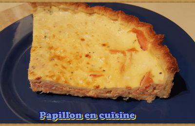 Recette: Tarte au saumon fumé et au fromage chèvre fouetté ail et fines herbes