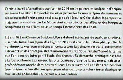 Lee Ufan Versailles, L'ombres des étoiles