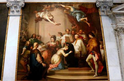 Investiture de Sainte Bona de Pise, tableau d'Antonio Cavallucci