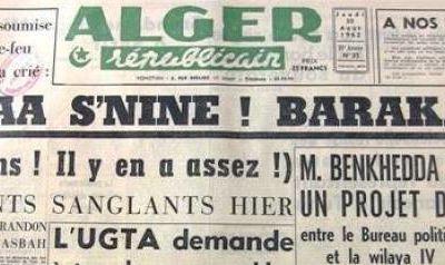 """L'été 1962 en Algérie revisité avec l'historien Amar Mohand-Amer : """"une crise politique majeure"""" (source blog de Youssef ZERARKA)"""