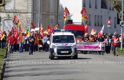 Manifestants fouillés, tracts confisqués la CGT, FO et Solidaires dénoncent des contrôles au faciès.