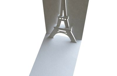 Carte POP UP de la tour eiffel