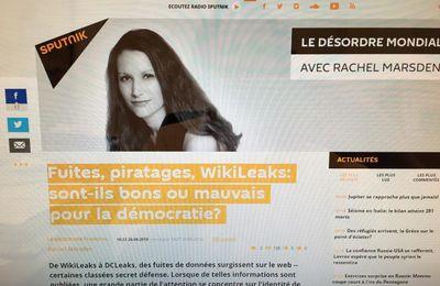 Fuites de données: une transparence trop radicale ? Un débat avec Rachel Marsden pour Sputnik France le 26 août 2016