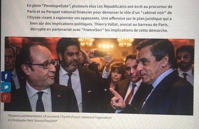 Ecoutes et Cabinet Noir: ma chronique pour France Soir du 31 mars 2017