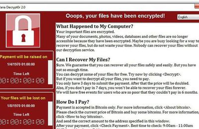 Oops Vos données ont été cryptées: nouvelle vague mondiale de cyberattaque aux rançongiciels