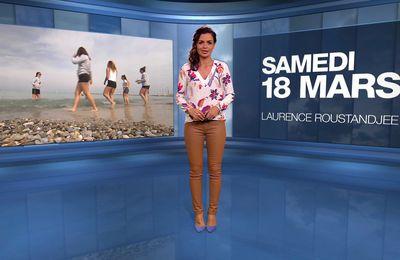 📸5 📺1 LAURENCE ROUSTANDJEE @LoRoustandjee ce soir pour LA METEO @M6 #vuesalatele