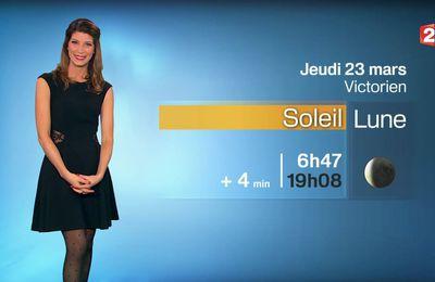 📸1 📺2 CHLOE NABEDIAN @ChloeNabedian @Soniadsm pour LA METEO ce SOIR @France2tv #vuesalatele