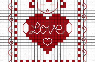 """Mini grille gratuite """"Love"""""""