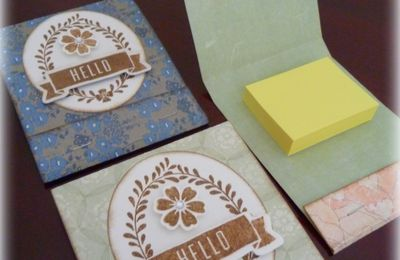 "Tutoriel ""Pochette à Post-it"""
