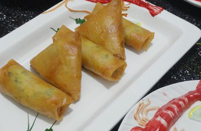 Bourek de crevettes au curry et à la crème aux fromages