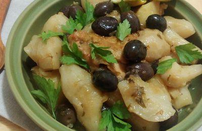 Tajine de topinambours aux saveurs du Maroc, citron confit et olives