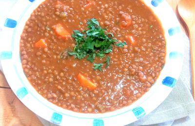 Lentilles aux mélanges d'épices