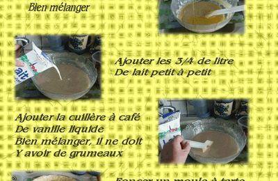 12ème Recette - Flan pâtissier Rhum/raisins -