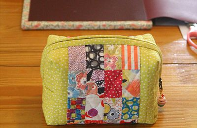 Trousse patchwork 2, trousse de toilette...