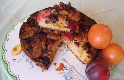 Gâteau aux mirabelles, quetsches et autres prunes