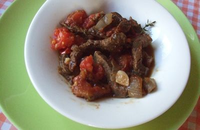 Emincé de boeuf au garam masala