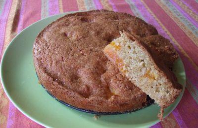 Gâteau mangue , noix de coco, à l'huile de coco