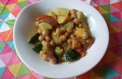 Petit curry de pois chiches, courgettes et lait de coco