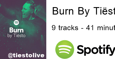 Burn By Tiësto - New Album 9 tracks on Spotify