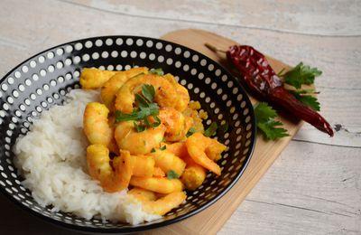 Curry de gambas à l'ananas
