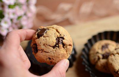 Cookies au beurre de cacahouète et chocolat #sans gluten #sans lait