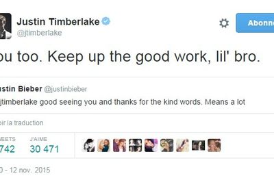 Justin Timberlake félicite Justin Bieber